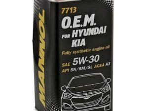 MANNOL O.E.M. Hyundai/Kia 5w30 SN 7713 4l Metall Синтетическое моторное масло в Нур-Султане (Астане)