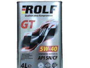 ROLF GT 5W40 SN/SF 4L Синтетическое моторное масло в Нур-Султане (Астане)