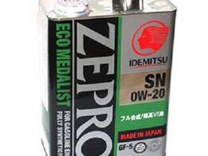 IDEMITSU ZEPRO ECO MEDALIST SN/GF-5 0W20 1л Синтетическое моторное масло в Нур-Султане (Астане)
