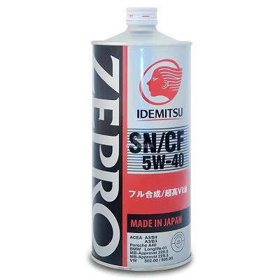 IDEMITSU ZEPRO EURO SPEC SN/SF 5W40 1л Синтетическое моторное масло в Нур-Султане (Астане)